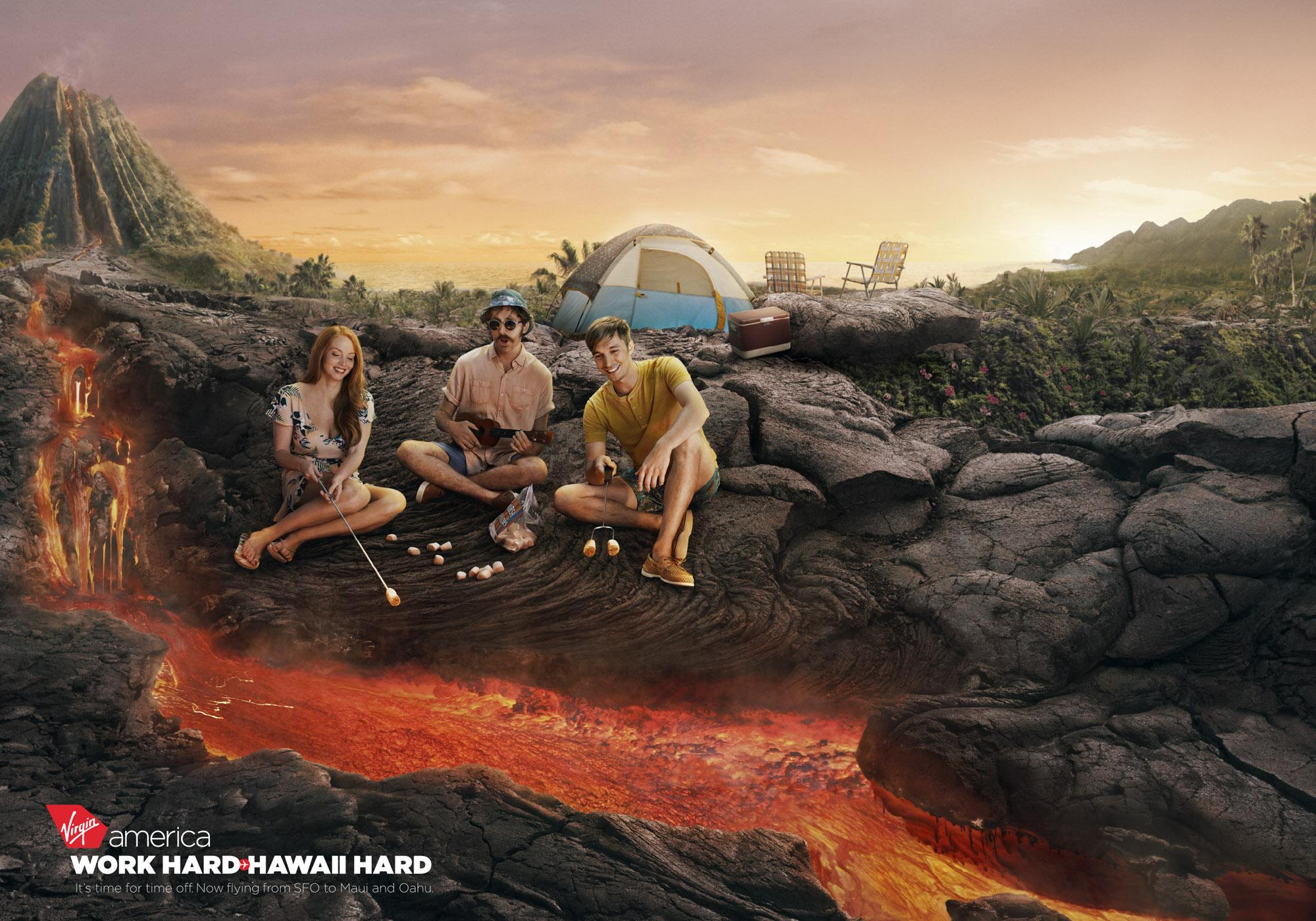 Virgin Print Ad - Volcano