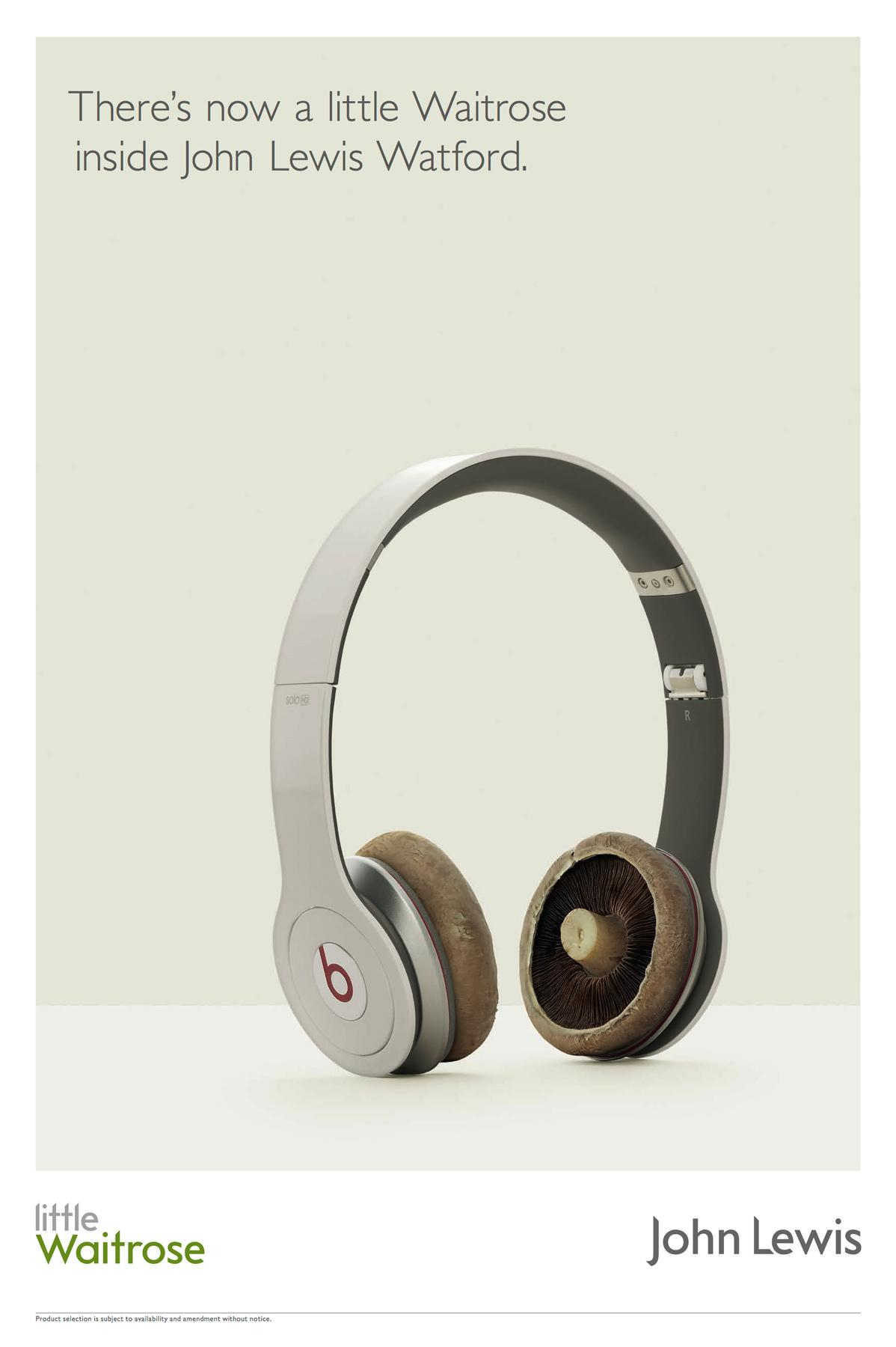 John Lewis Print Ad -  Headphones