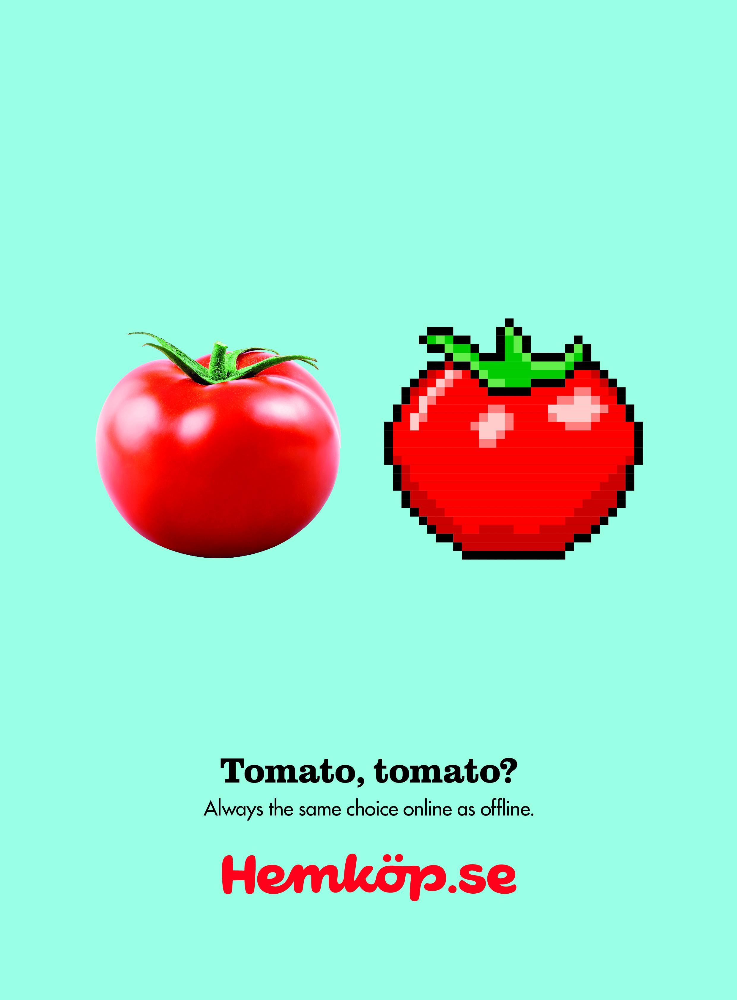 Hemköp Print Ad - Tomato