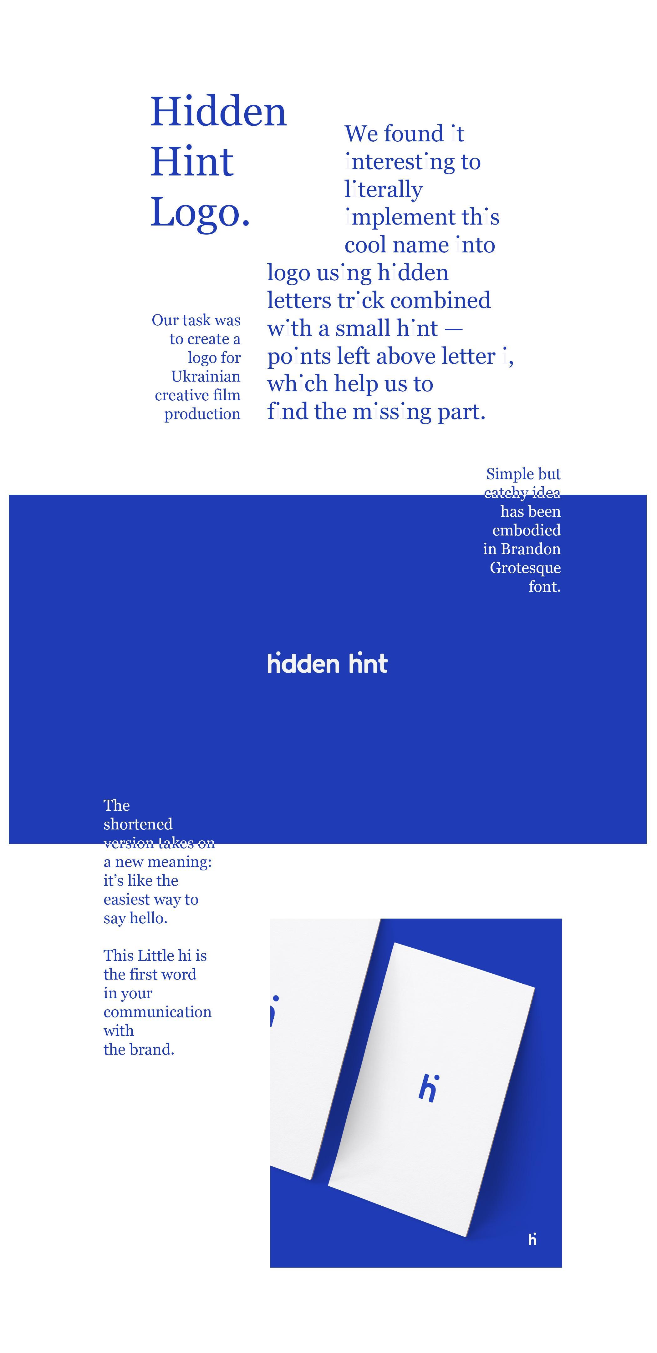 Hidden Hint Design Ad - Logo Design