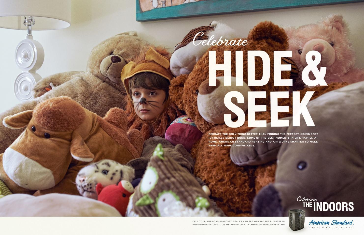 American Standard Print Ad -  Hide & Seek