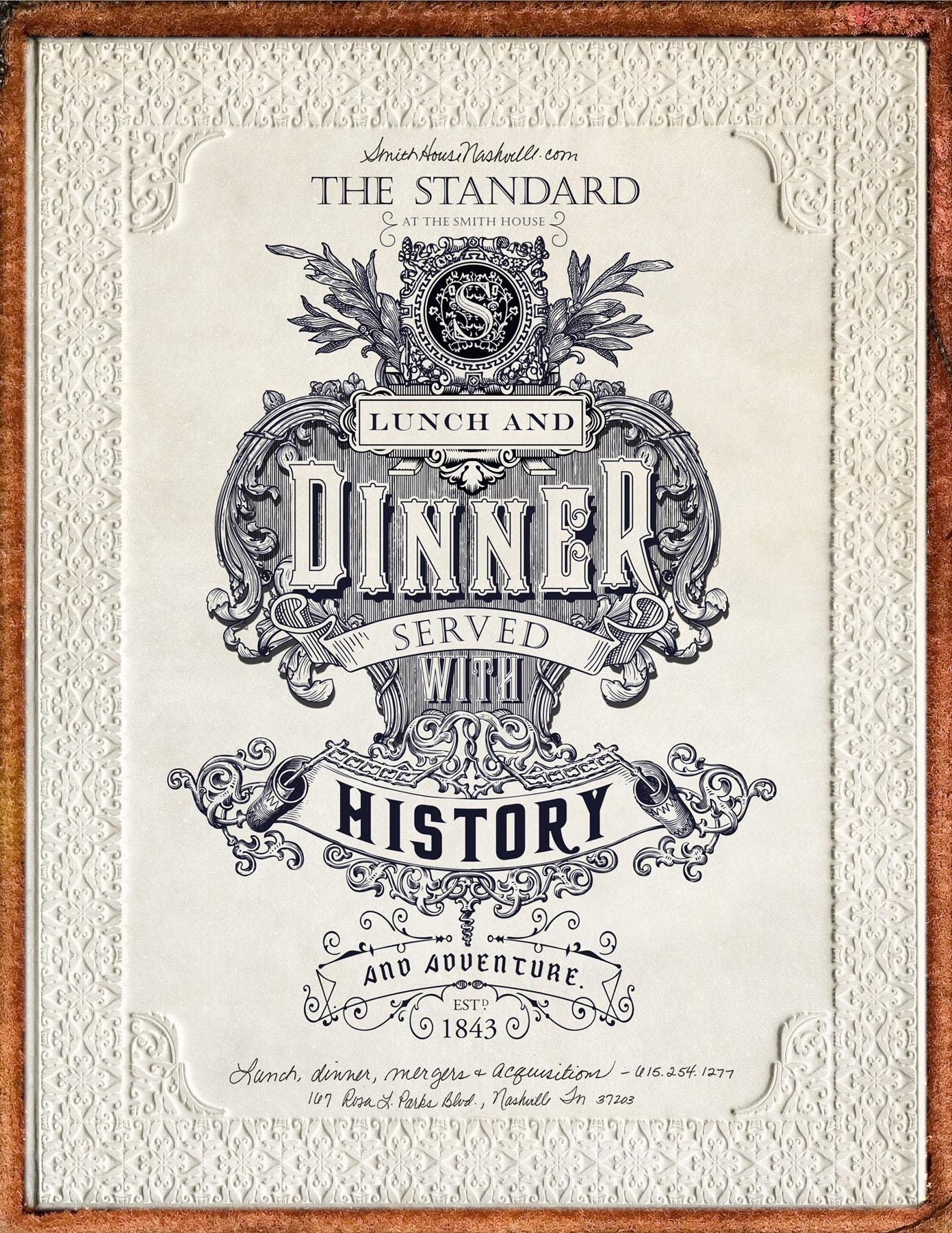 The Standard Print Ad -  Served with history