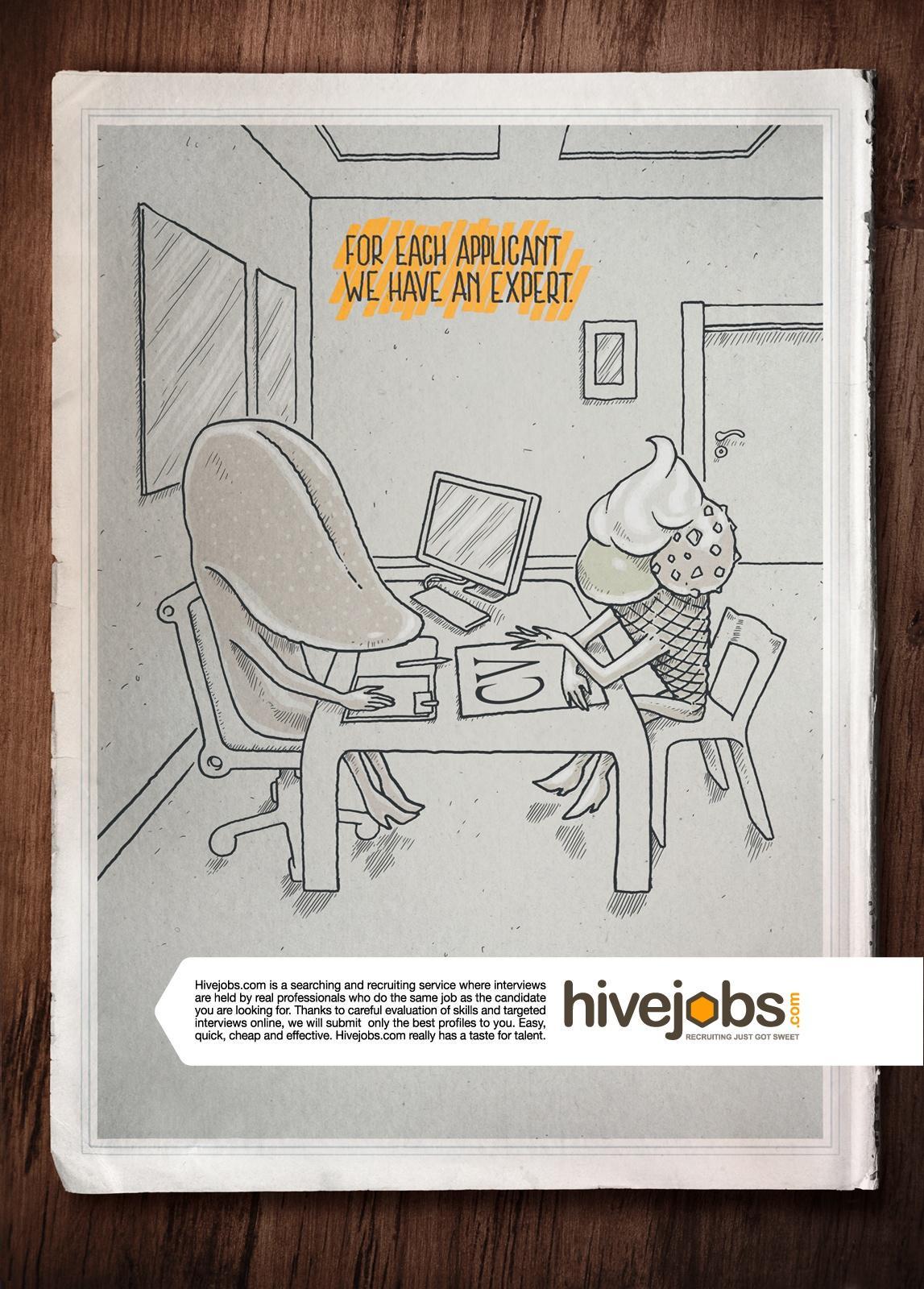 Hivejobs.com Print Ad -  Tongue