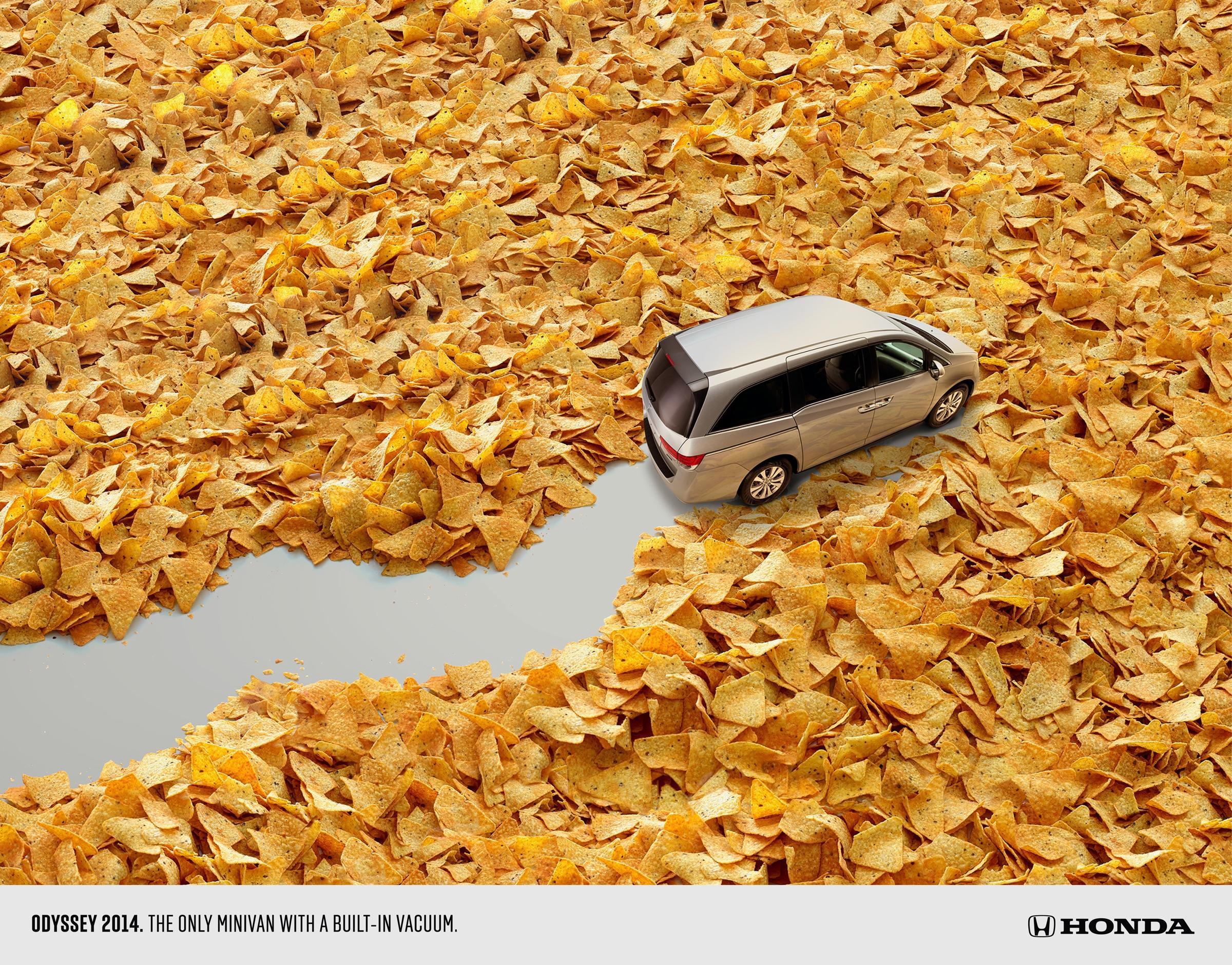 Honda Print Ad -  Vacuum Nachos