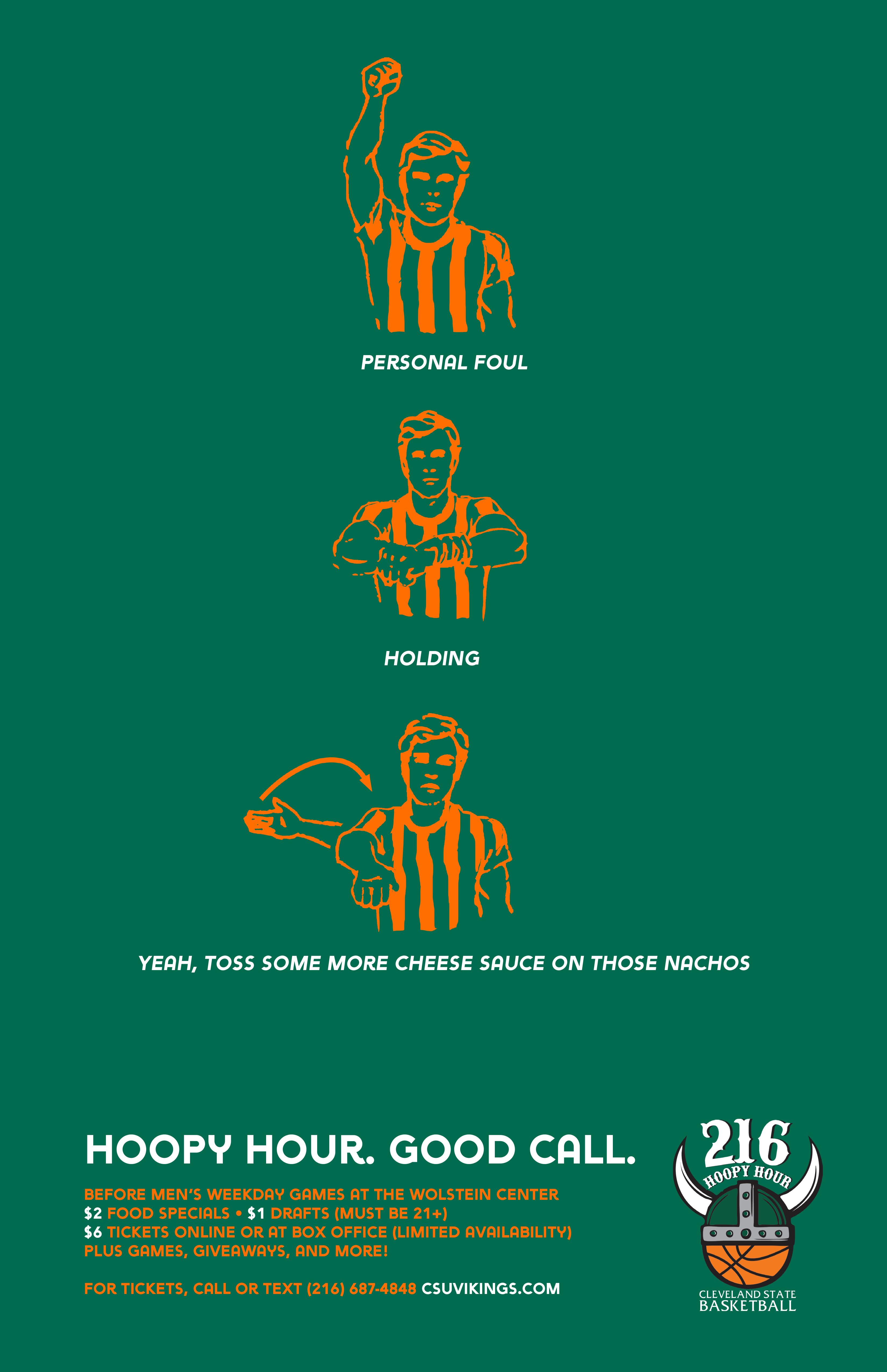 Cleveland State University Print Ad - More Cheese