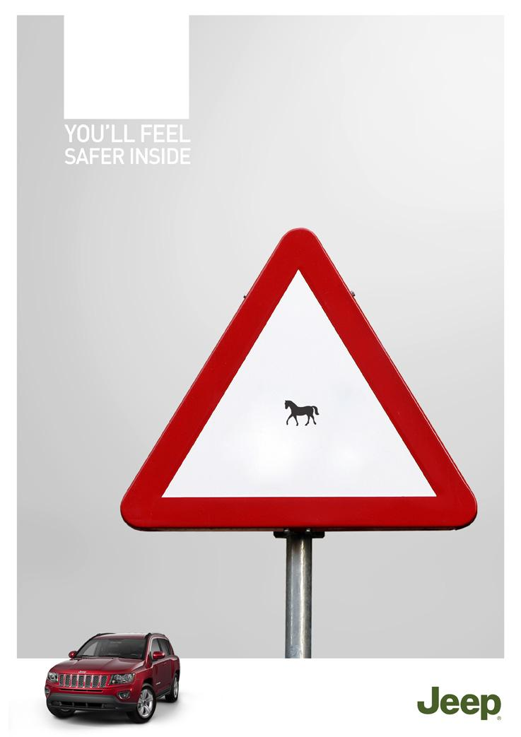 Jeep Print Ad -  Horse