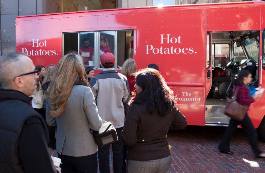 The Economist Ambient Ad -  Hot Potato Truck