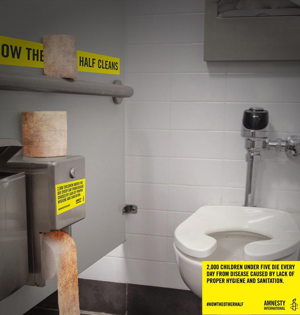 Amnesty International Outdoor Ad - How the Other Half _____