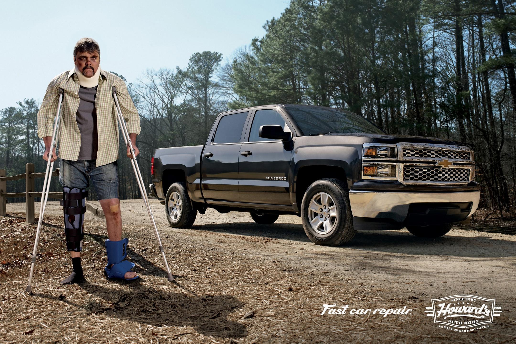 Howard's Auto Body Print Ad -  Truck
