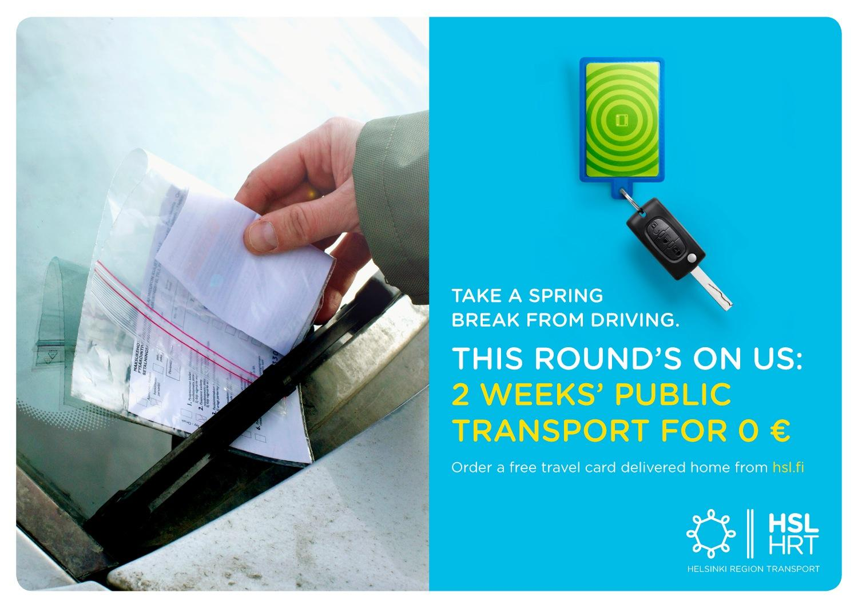 Helsinki Region Transport Print Ad -  Take a spring break from driving, 5
