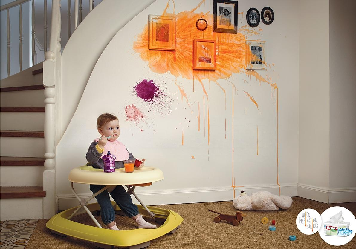 Huggies Print Ad -  Messy thoughts, 2