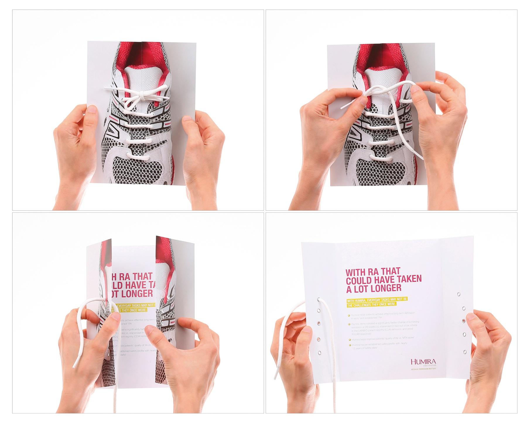 Humira Direct Ad -  Shoelace mailer