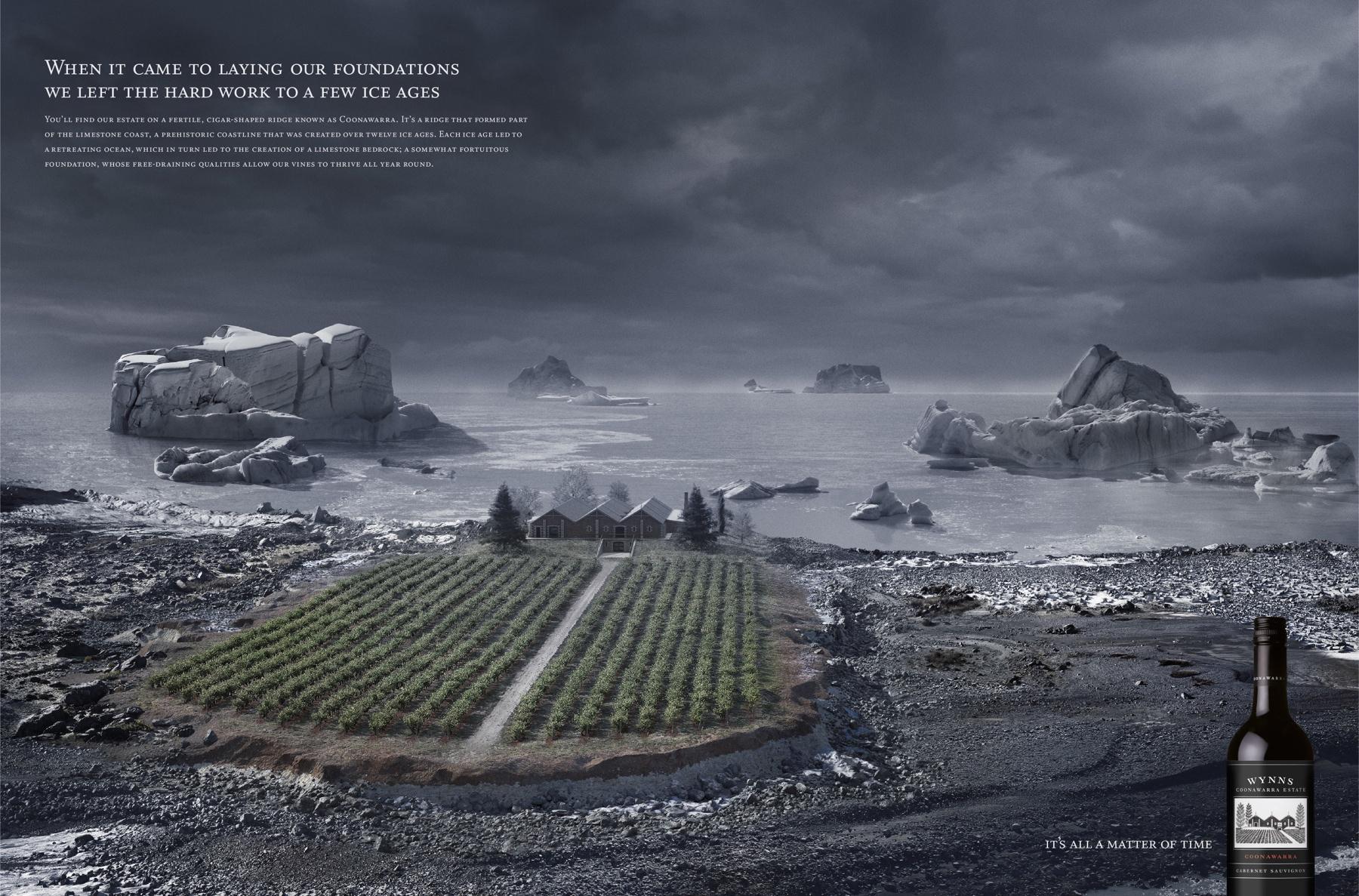 Wynns Coonawarra Estate Print Ad -  Ice Age