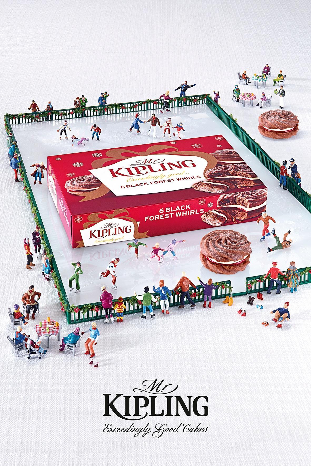 Mr Kipling Print Ad -  Ice Skating