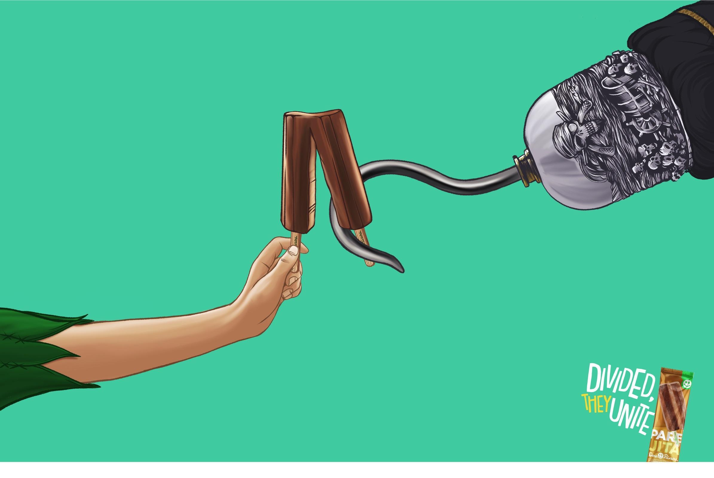 Dos Pinos Print Ad - Parejita Ice Cream, 1