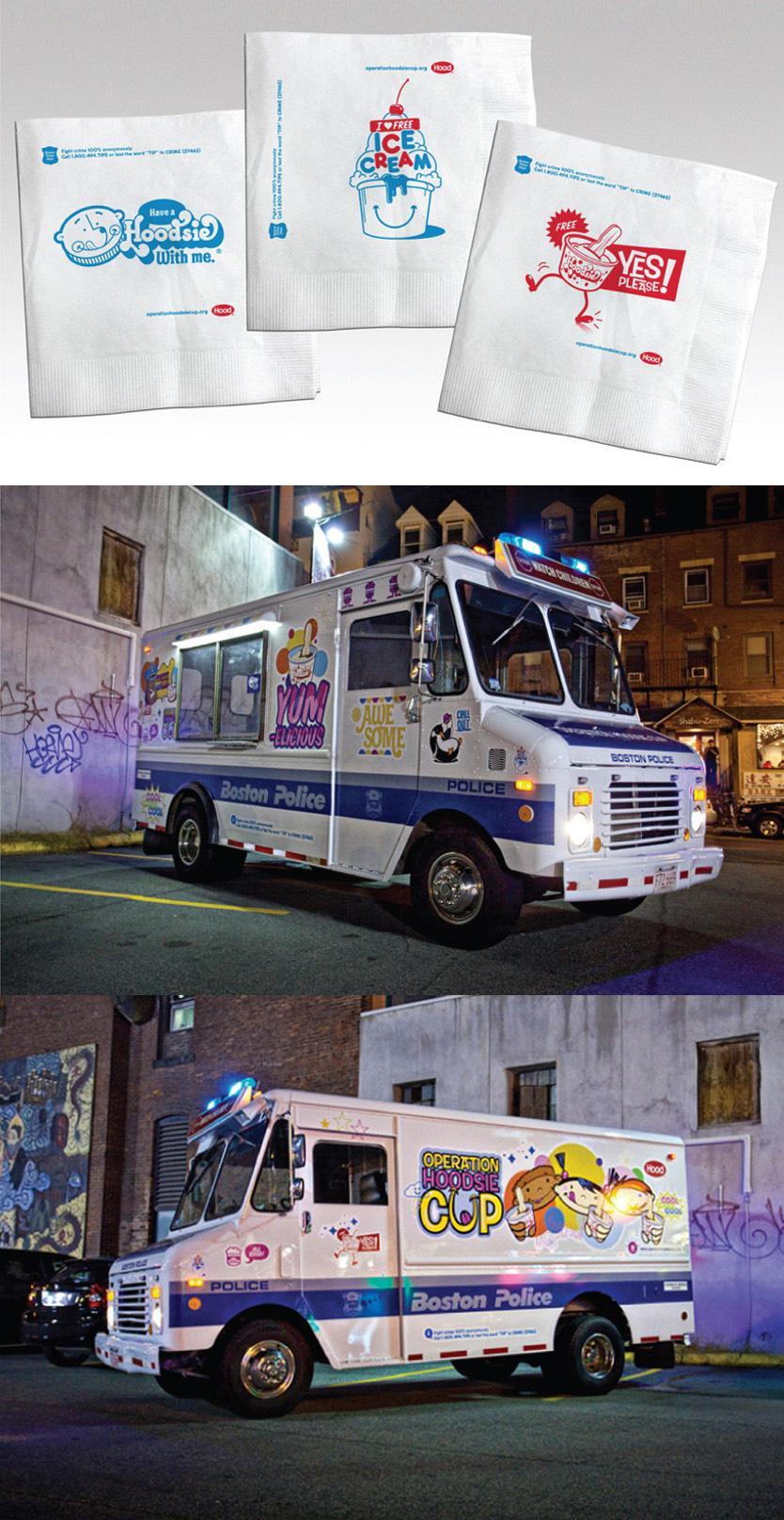 Hoodsie Ice Cream Ambient Ad -  Ice Cream Truck Patrol Car