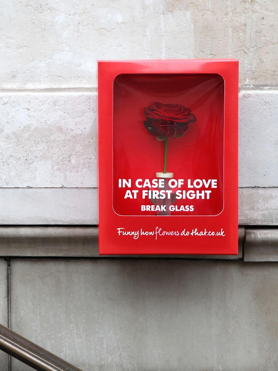 Flower Council of Holland Outdoor Ad -  In case of love at first sight, break glass