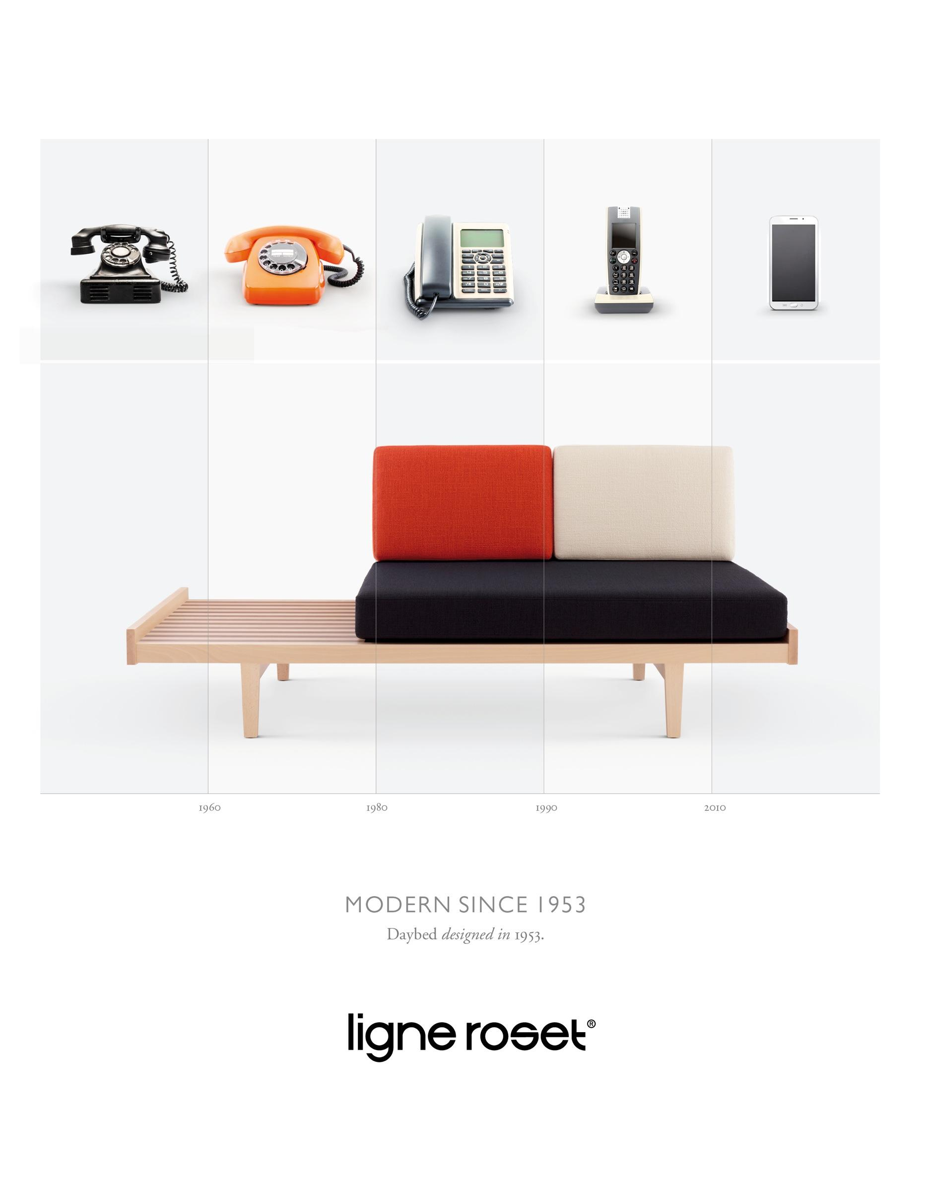 ligne roset print advert by les gaulois pierre paulin modern since 1953 1 ads of the world. Black Bedroom Furniture Sets. Home Design Ideas