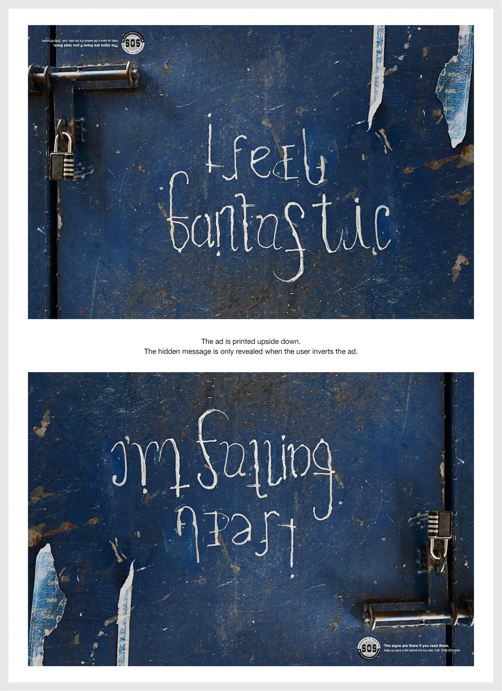 SOS Print Ad -  The Hidden Pain, I Feel Fantastic / I'm Falling Apart