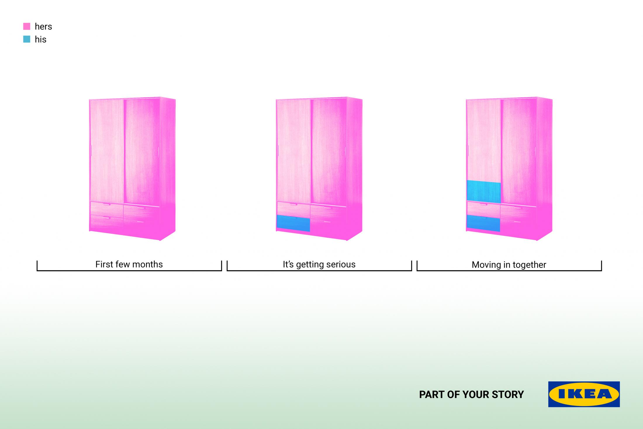 IKEA Print Ad - Part of your story - Closet
