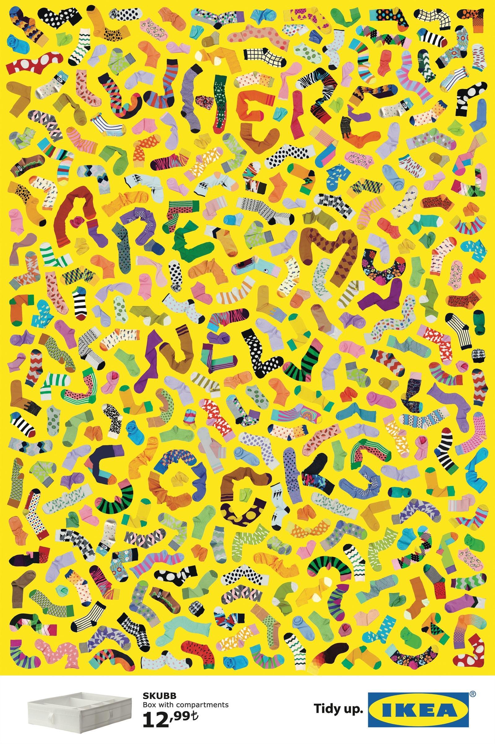 IKEA Print Ad -  Socks