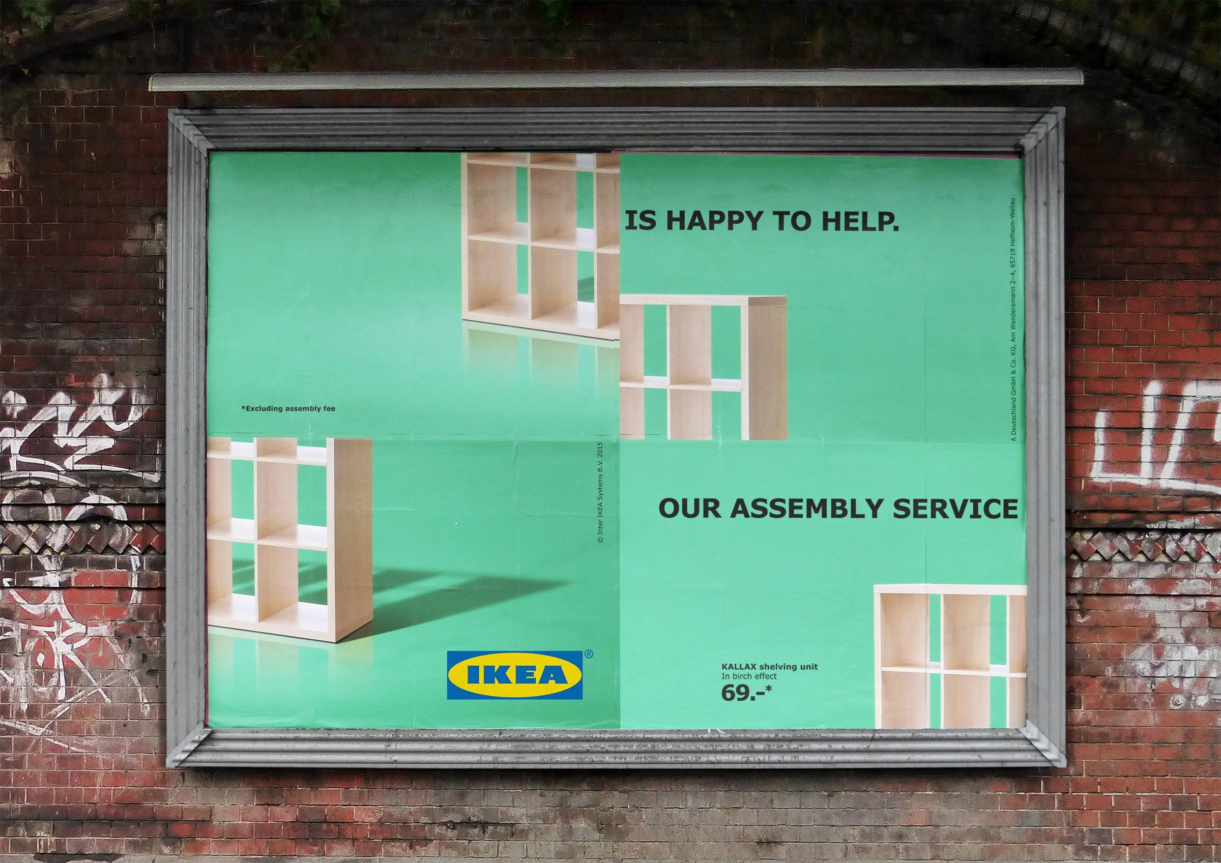 IKEA Outdoor Ad -  Assembly Fail - Shelf