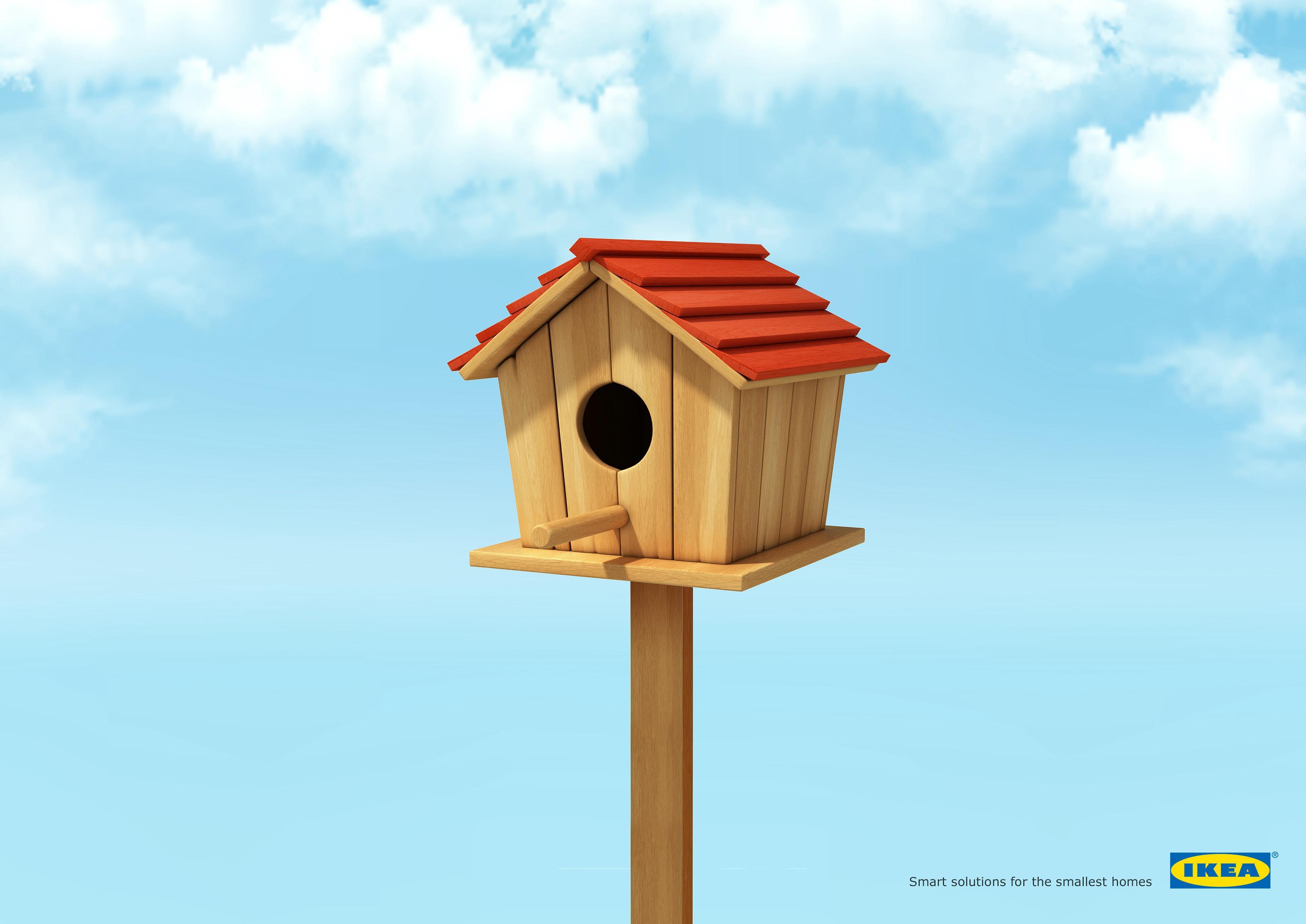 IKEA Print Ad - Smart Solution - Bird House