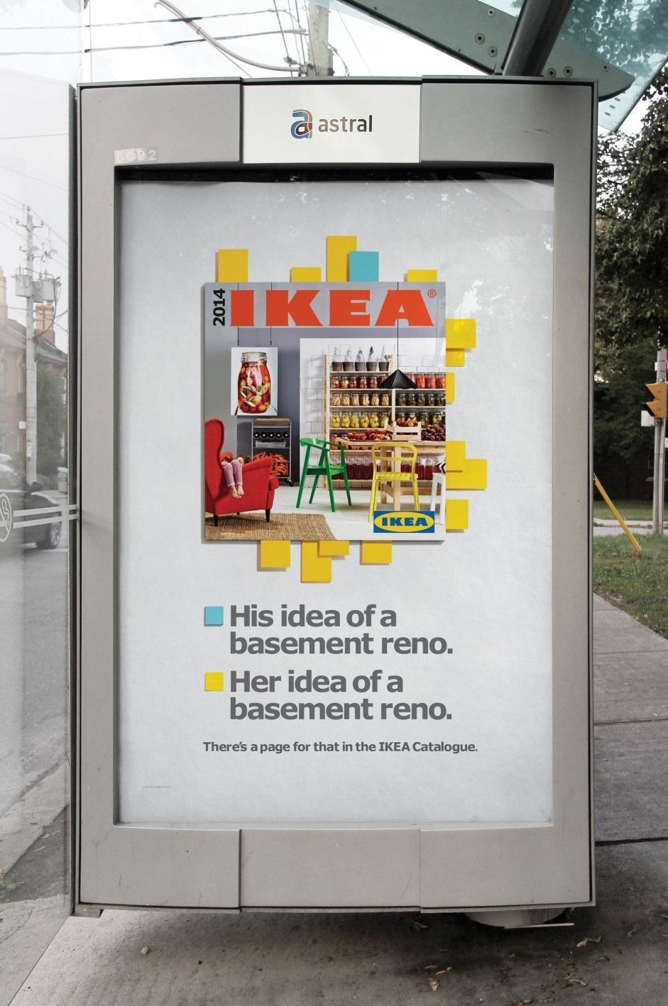 IKEA Outdoor Ad -  Basement reno