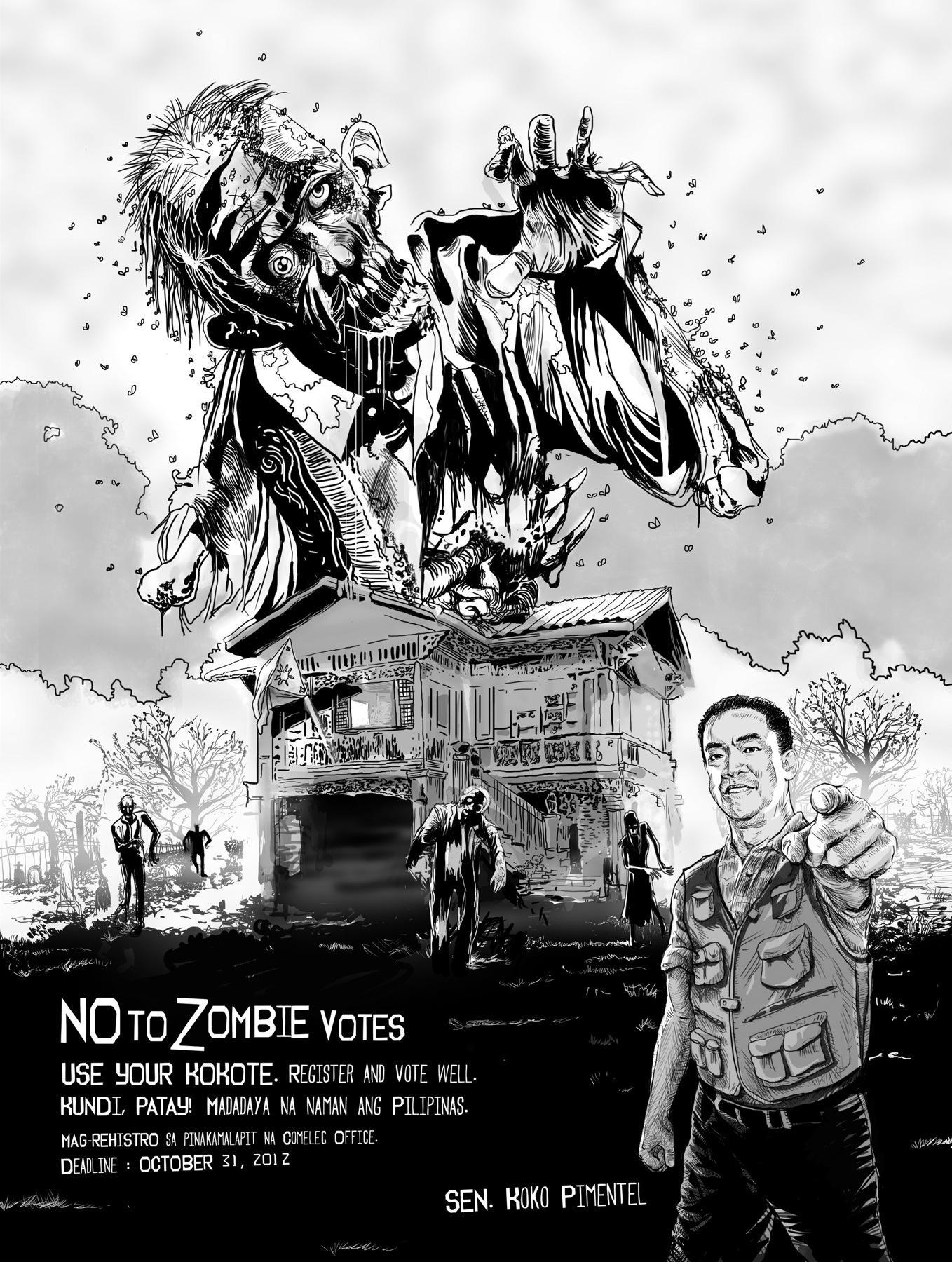 Senator Koko Pimentel Outdoor Ad -  Zombie