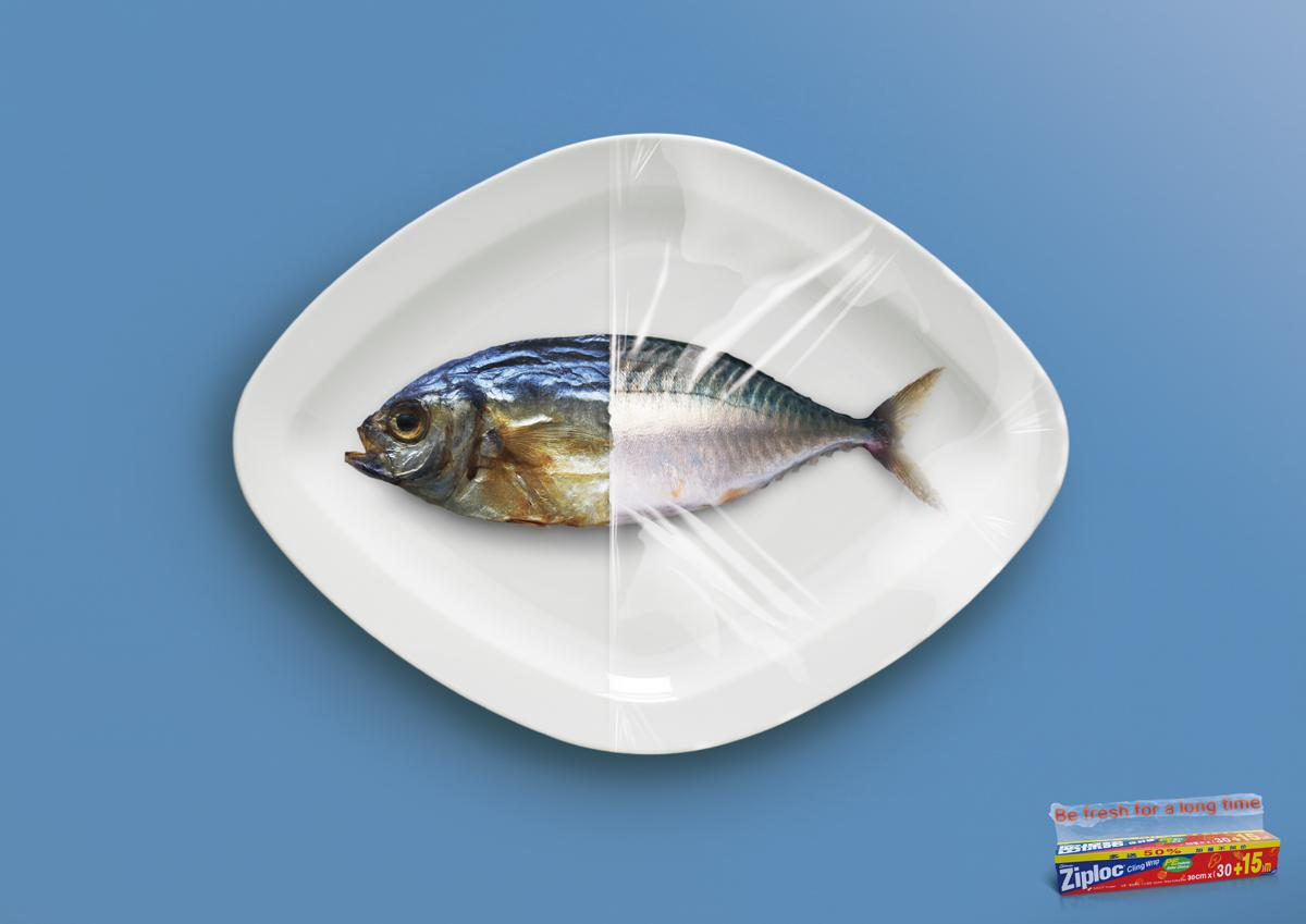 Ziploc Print Ad -  Fish