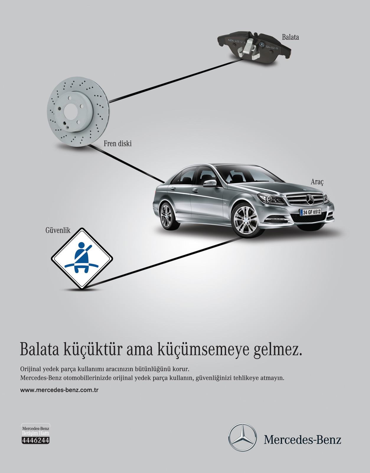 Mercedes Print Ad -  After Sales Services, Personal Car