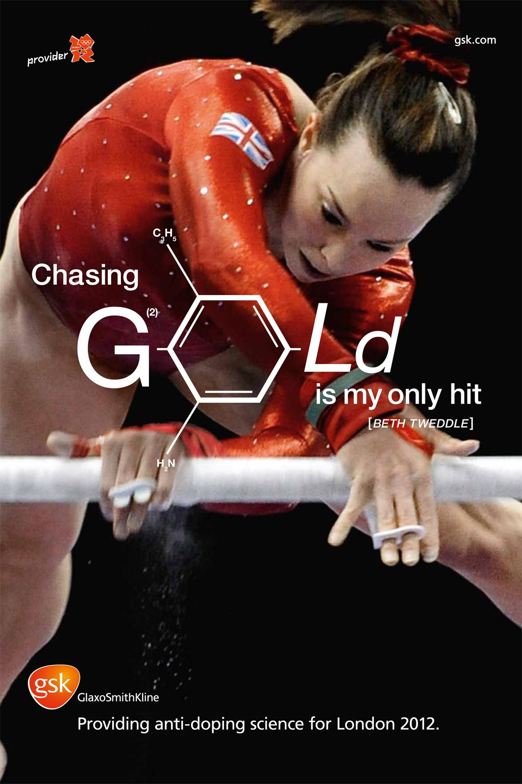 GlaxoSmithKline Outdoor Ad -  Anti-doping, Beth Tweddle