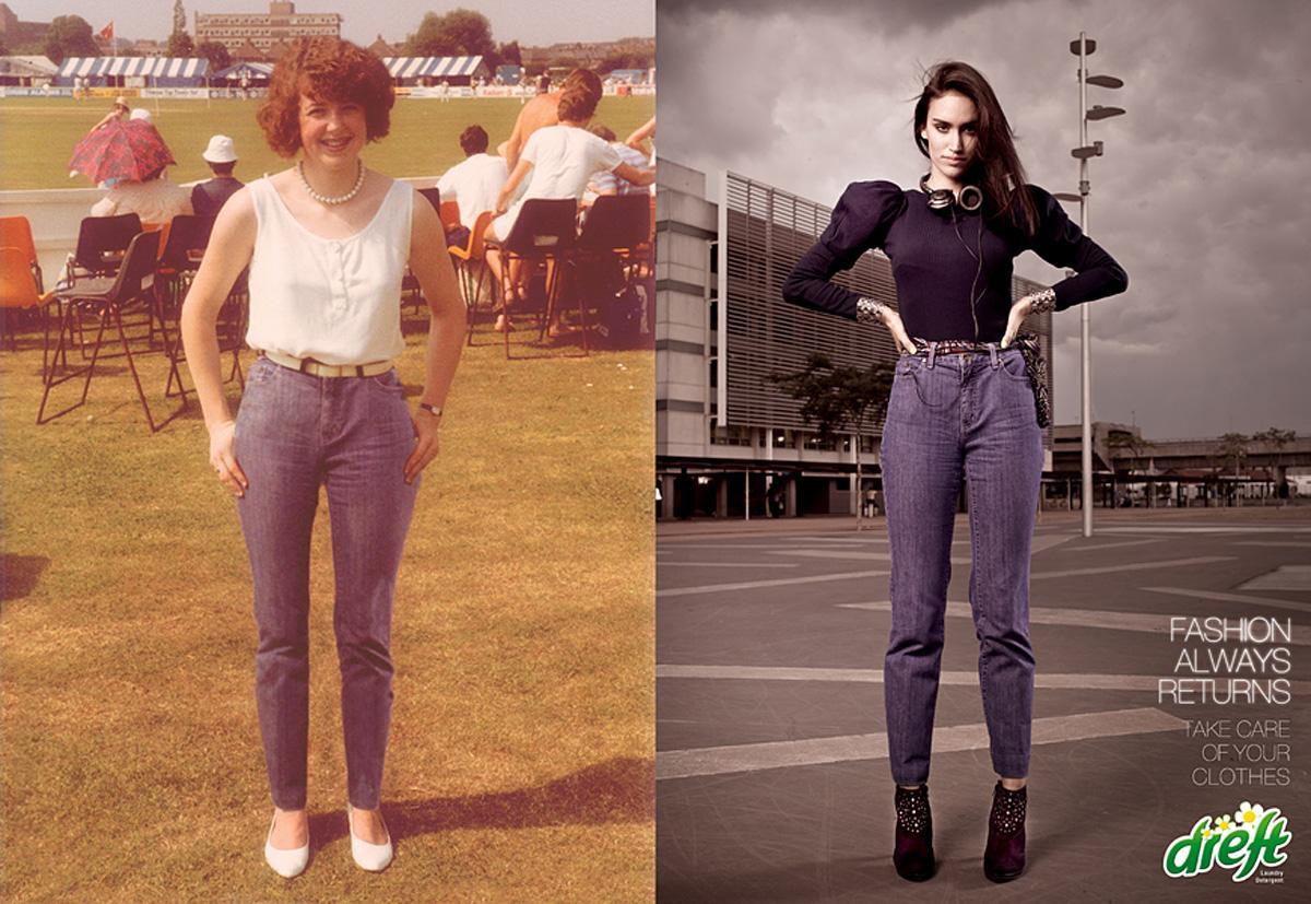 Dreft Print Ad -  Fashion Always Returns, High waist pants