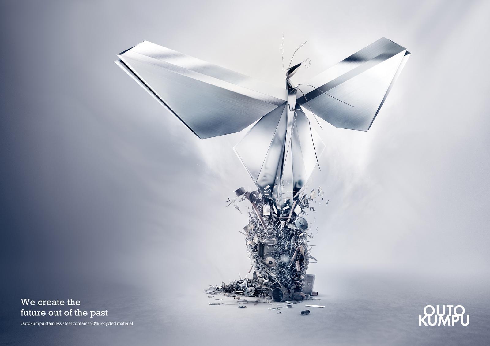 Outokumpu Print Ad -  Butterfly