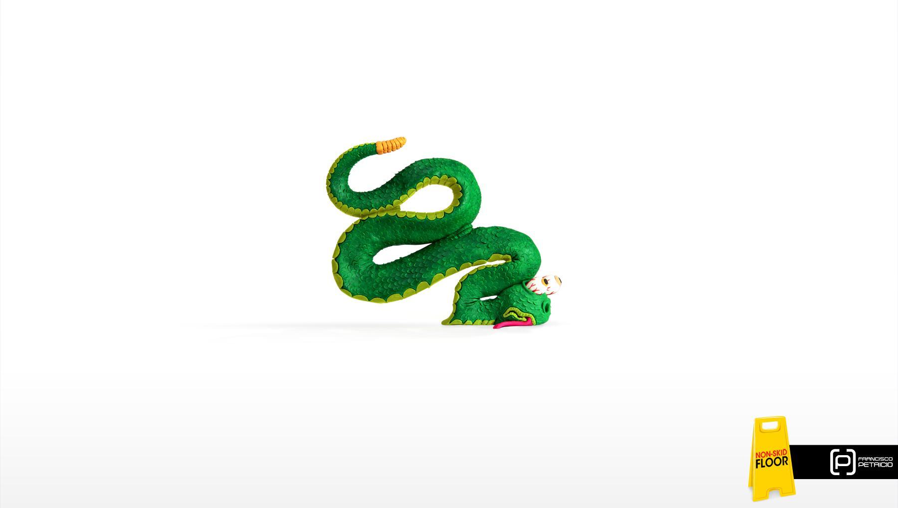Francisco Petricio Print Ad -  Snake