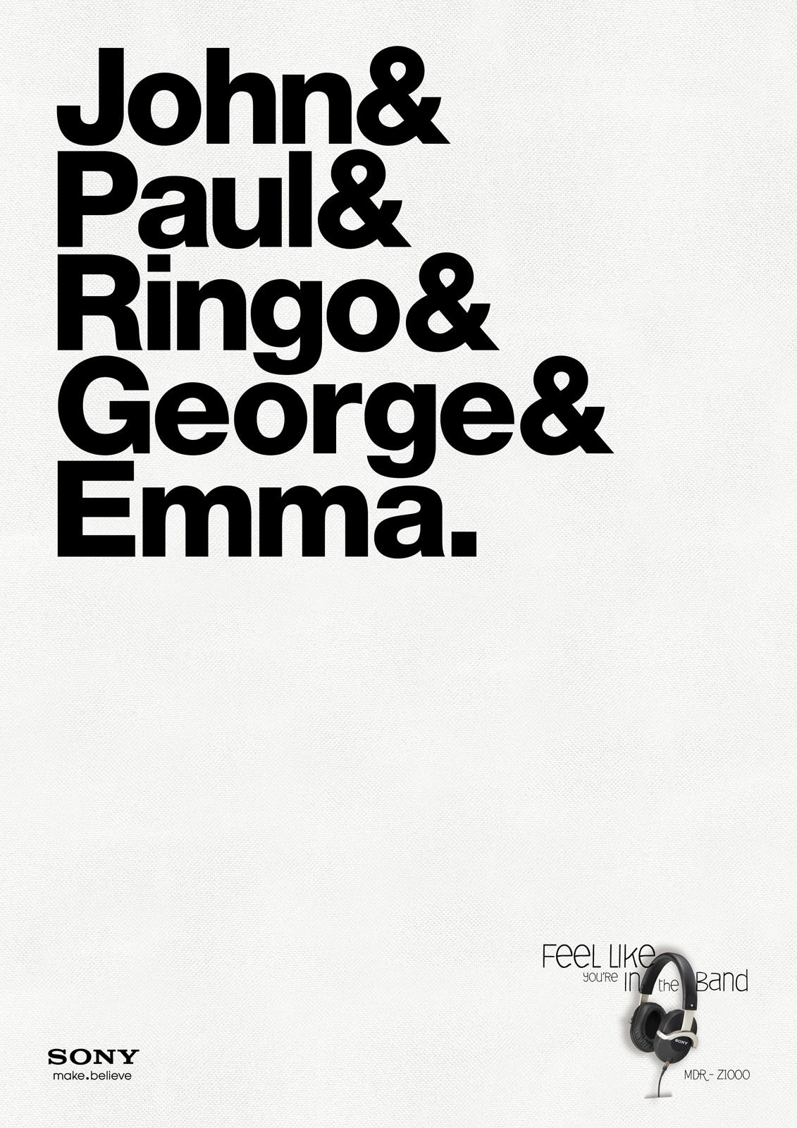 Sony Print Ad -  Beatles