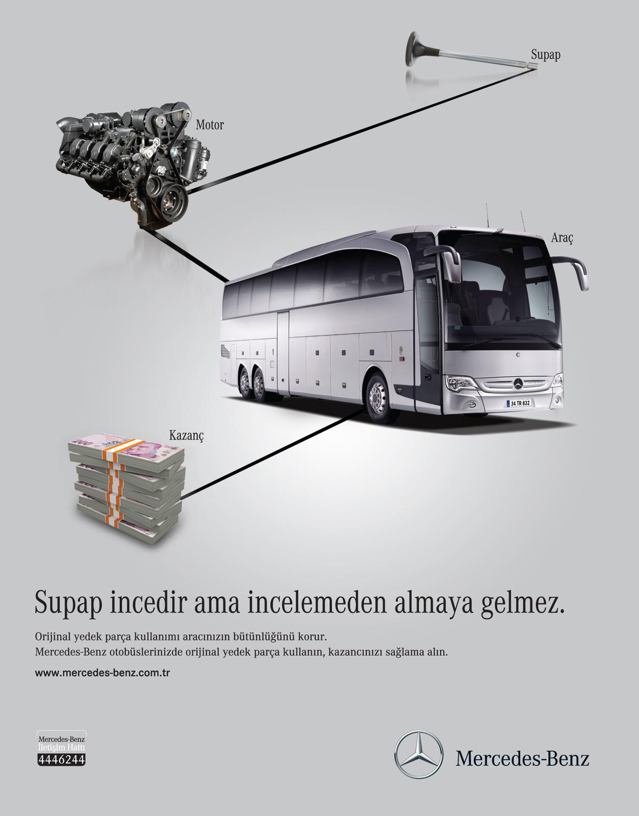 Mercedes Print Ad -  After Sales Services, Bus