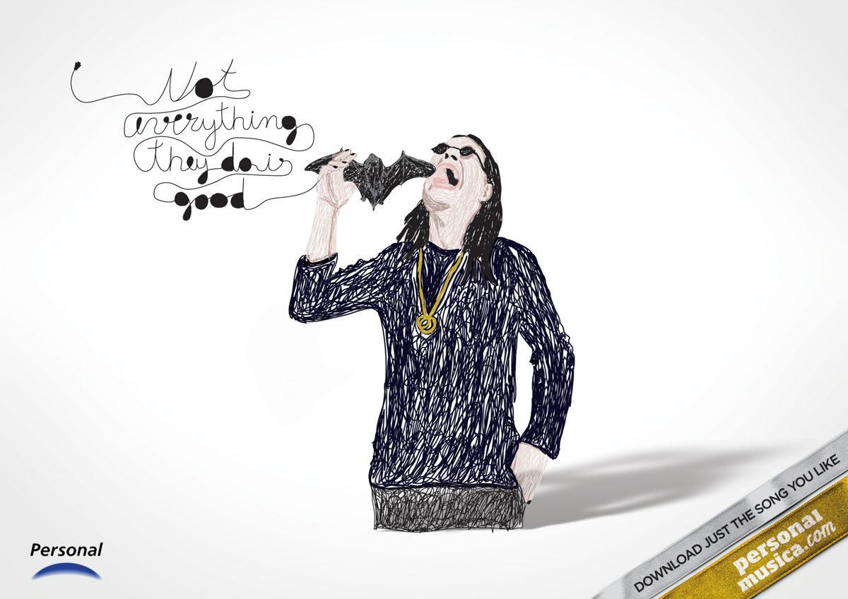 PersonalMusica.com Print Ad -  Ozzy