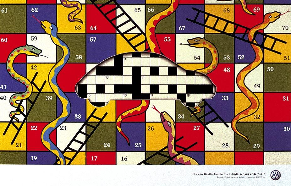 Snakes and ladder vs crossword