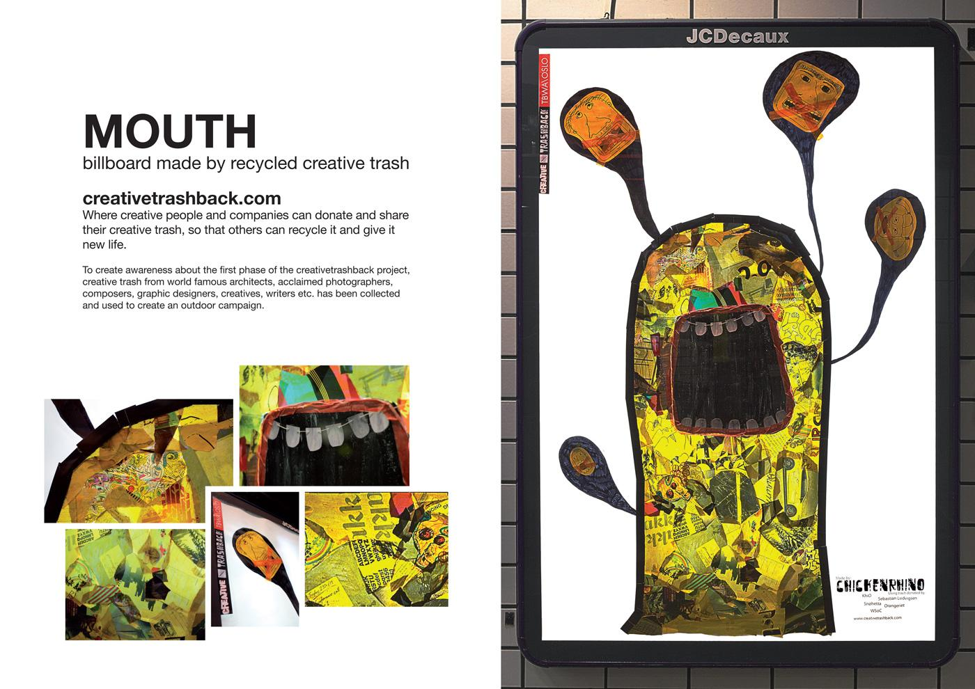 creativetrashback Outdoor Ad -  Mouth