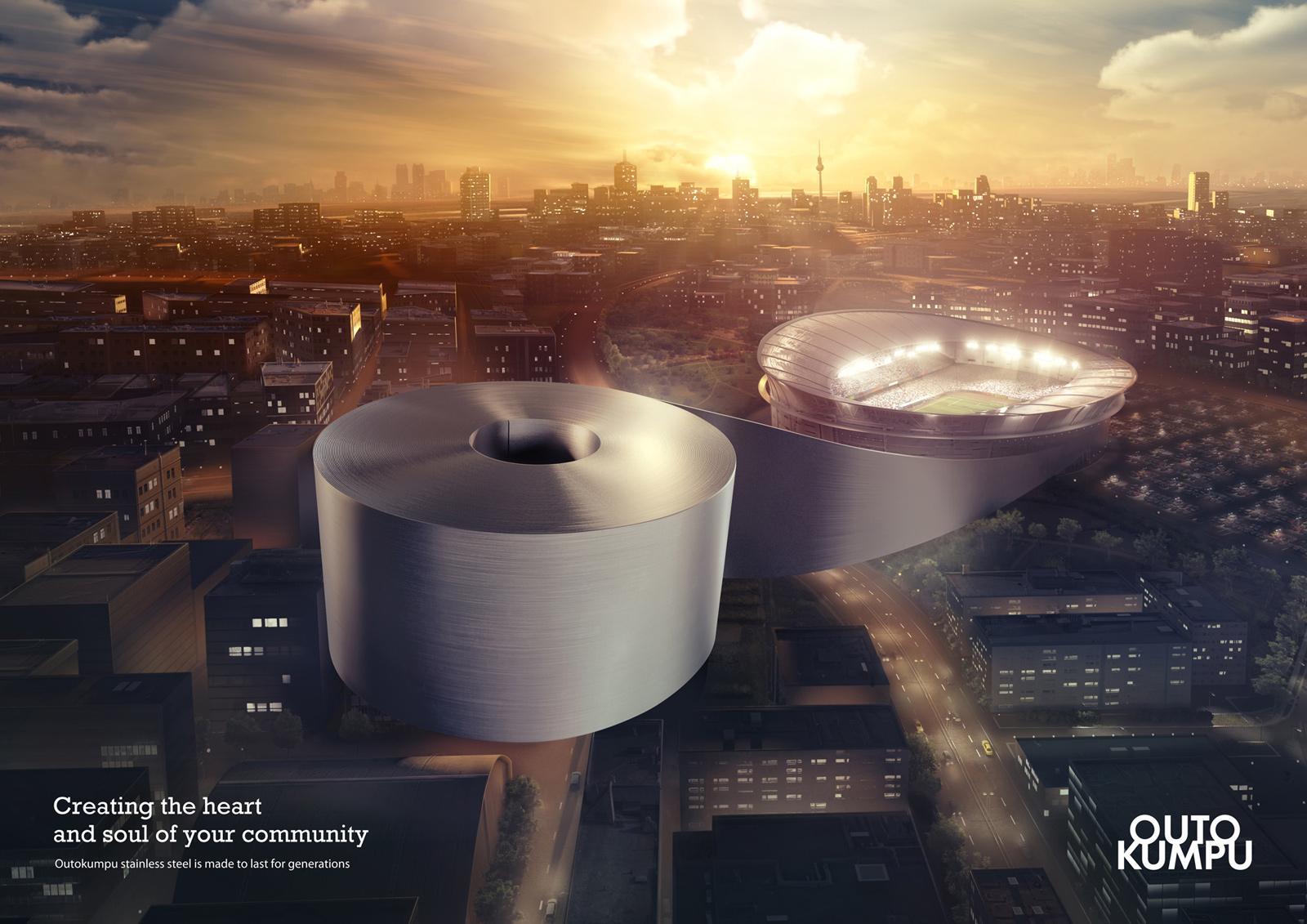 Outokumpu Print Ad -  Stadium