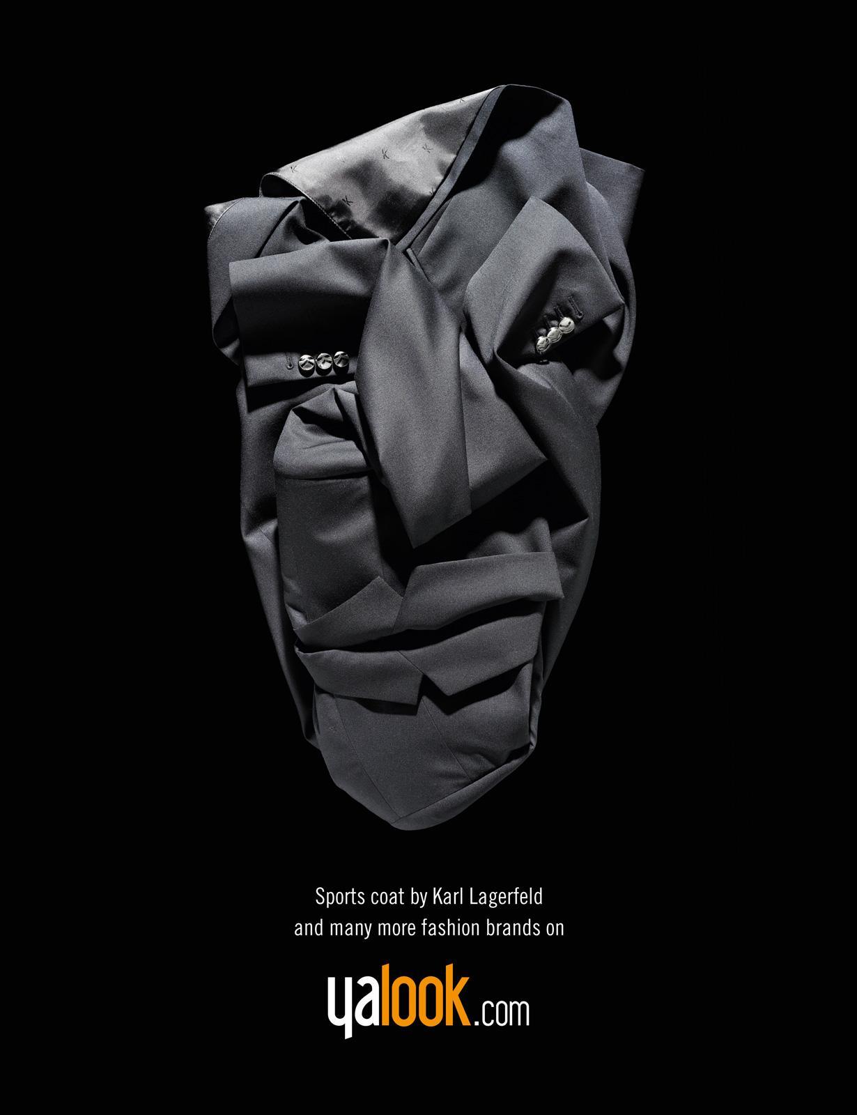 Yalook.com Print Ad -  Fashion Faces, Karl Lagerfeld