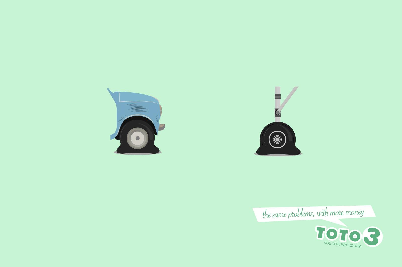 Toto 3 Print Advert By Grey: Wheels | Ads of the World™