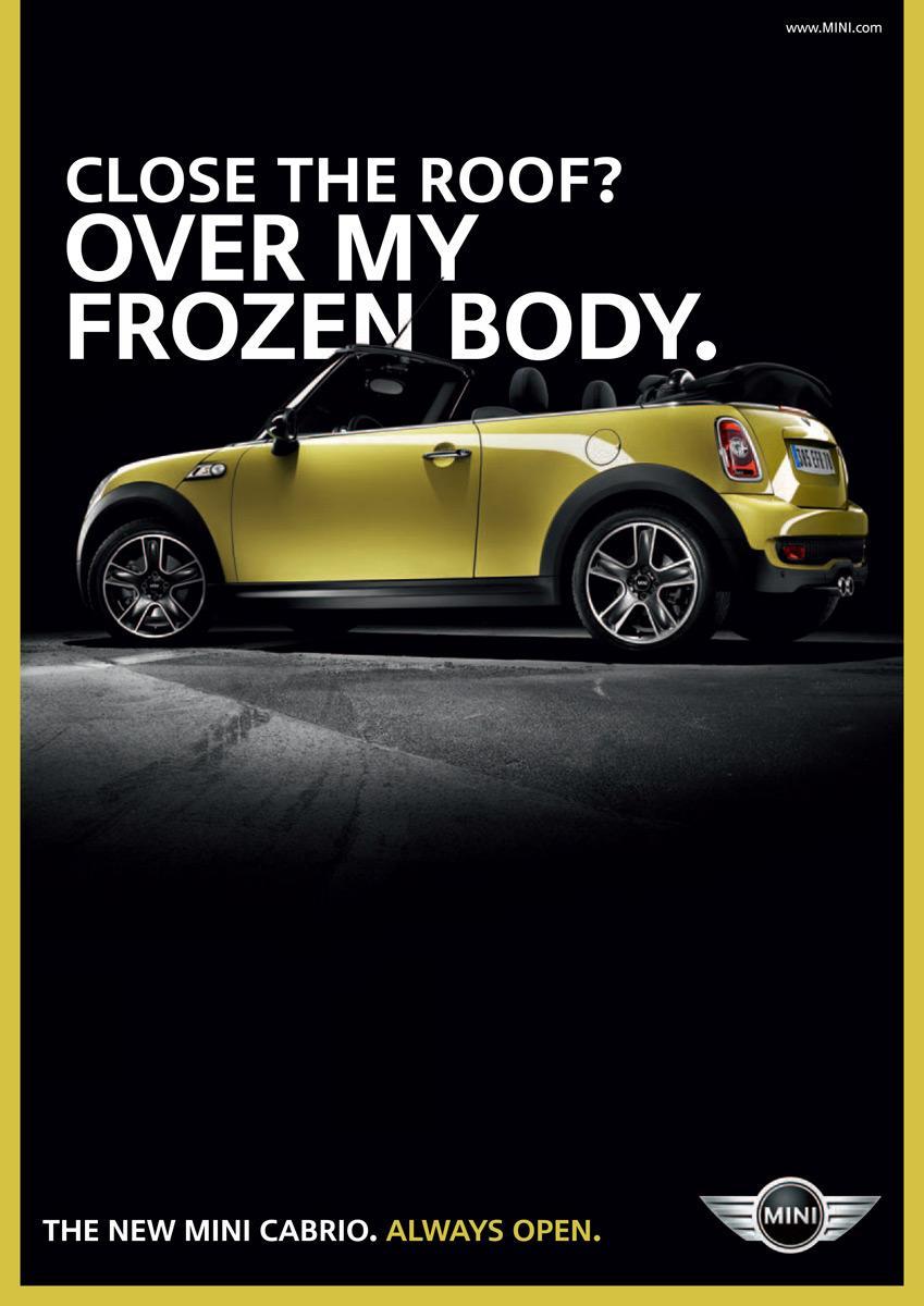 Mini Print Ad -  Frozen body