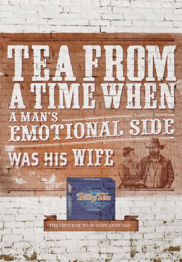 Billy Tea Print Ad -  Emotional side