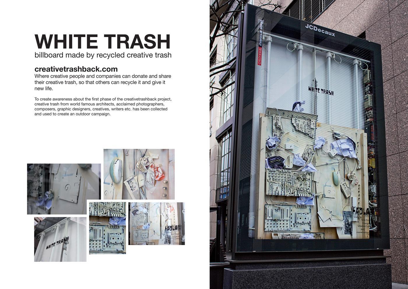 creativetrashback Outdoor Ad -  White Trash