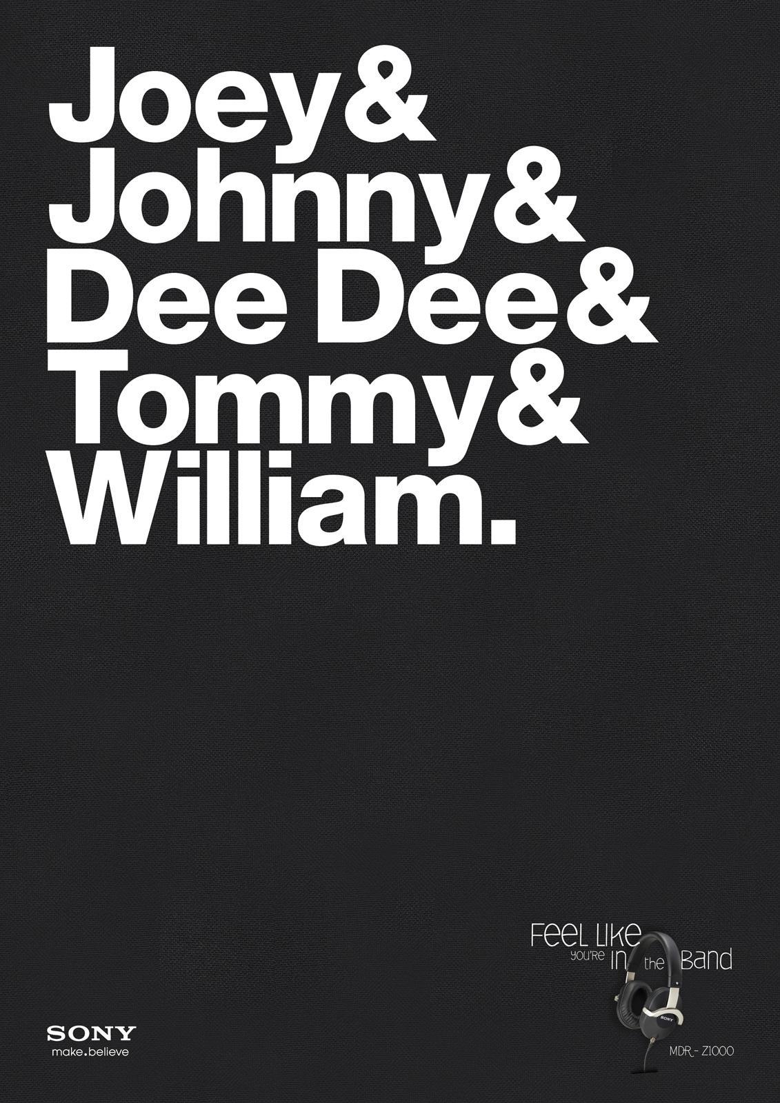 Sony Print Ad -  Ramones