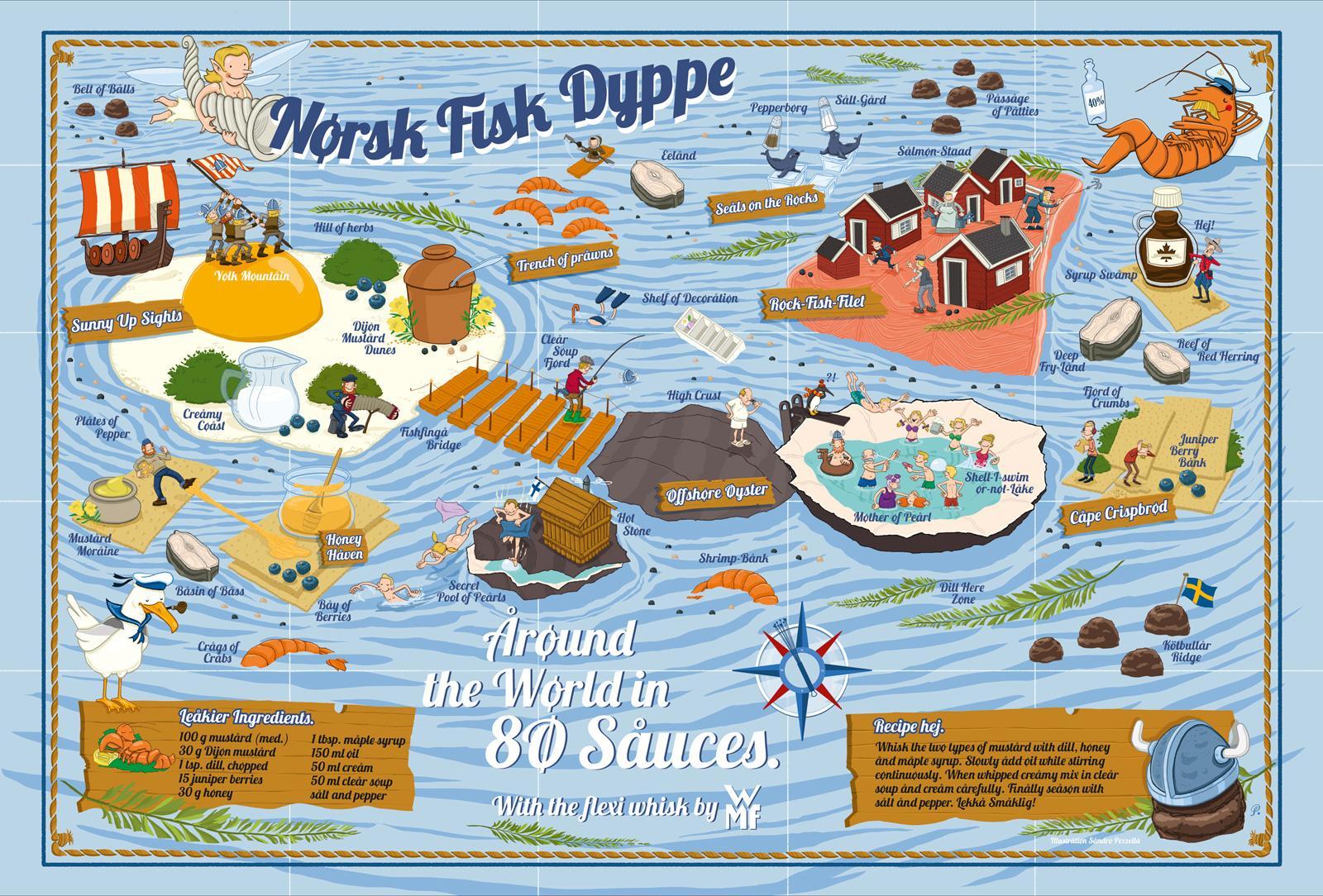 WMF Print Ad -  Nørsk Fisk Dyppe