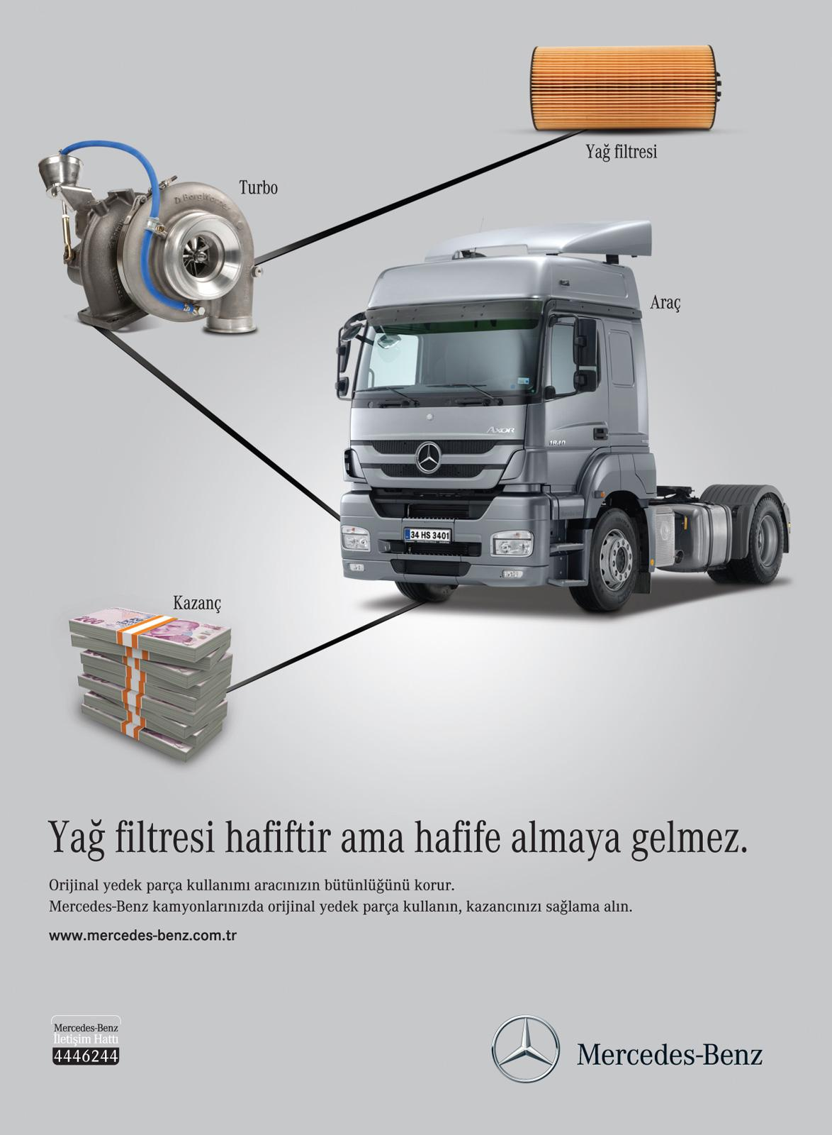Mercedes Print Ad -  After Sales Services, Truck