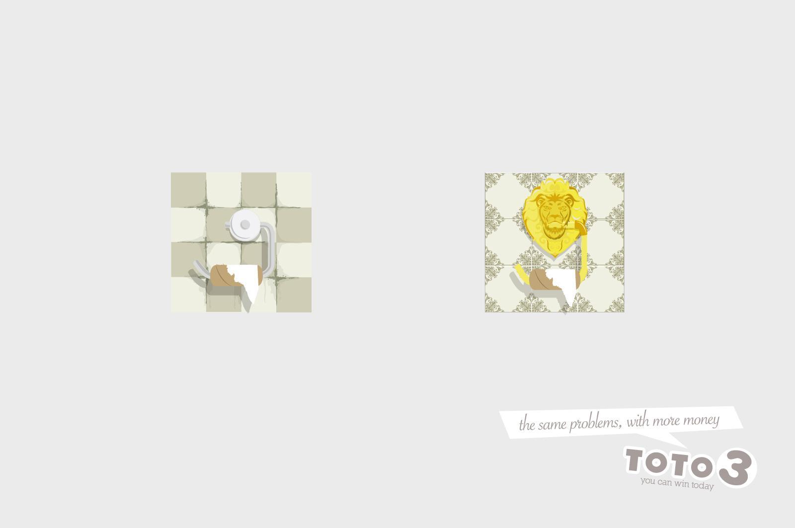 Toto 3 Print Ad -  Toilet